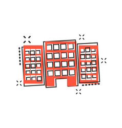 cartoon building in comic style house sign vector image