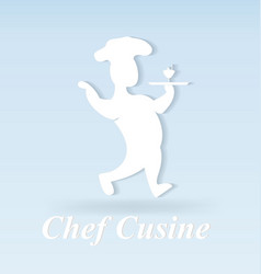 chef cook figure icon vector image