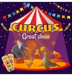 Circus great performance concept cartoon style vector