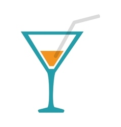 Cocktail cup drink vector