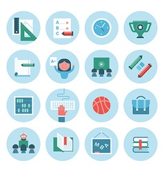 Collection of Education Icons vector image vector image