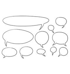 comic speech text bubbles set01 vector image