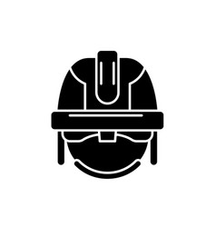 construction mask black icon sign on vector image