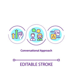 Conversational approach concept icon vector