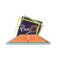 Courts of tennis sport with racket vector