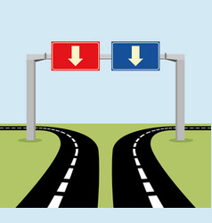 decision concept road signs vector image