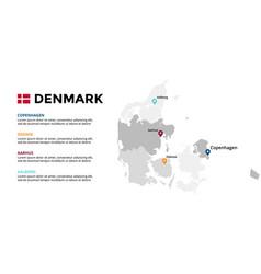 denmark map infographic template slide vector image