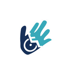 disability care logo design template vector image