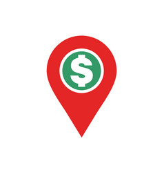dog location icon logo concept vector image