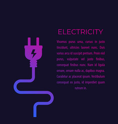 Electricity with electric plug vector