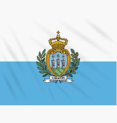Flag san marino swaying in wind vector