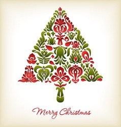 Floral Christmas Design vector image vector image
