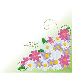 Floral corner background vector