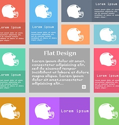 football helmet icon sign Set of multicolored vector image
