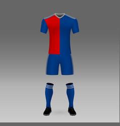 Football kit basel vector