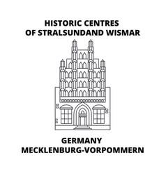 germany mecklenburg-vorpommern historic centres vector image