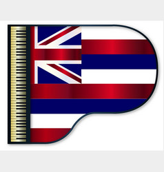 Grand piano hawaii flag vector