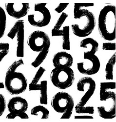 Grunge numbers seamless pattern vector