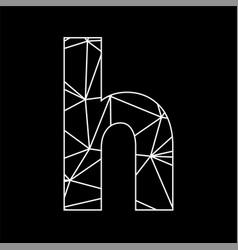 h geometric triangle blockchain font vector image
