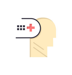 health mental medical mind flat color icon icon vector image
