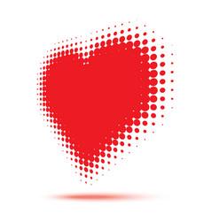 heart halftone logo in perspective vector image
