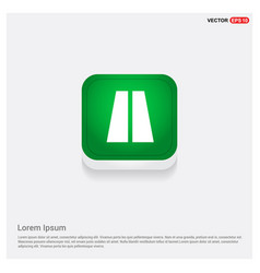 Highway icons green web button vector