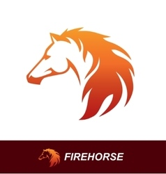 Horse head with a mane looking like a fire flame vector