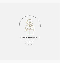 icon and logo celebration merry christmas vector image
