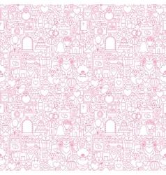 Line Wedding White Seamless Pattern vector