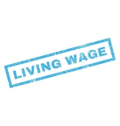 Living Wage Rubber Stamp vector