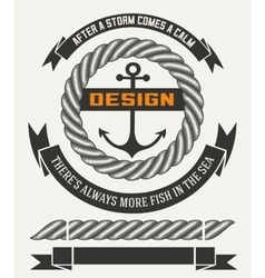 Marine design with elements vector