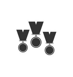 medal set icon isolated winner simbol flat vector image
