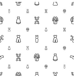 Model icons pattern seamless white background vector