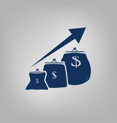 Money purse growth vector