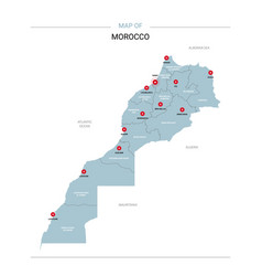 Morocco map with red pin vector