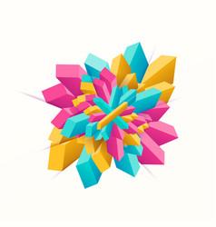 multicolored geometric vector image