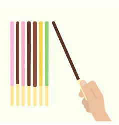 pocky pepero stick vector image