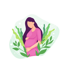 pregnant woman expecting a baby vector image