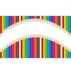 Rainbow set of colored pencils vector