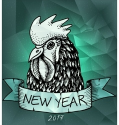 Rooster Year design for wallpaper banner vector image