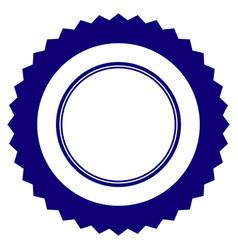 Rosette seal frame template vector