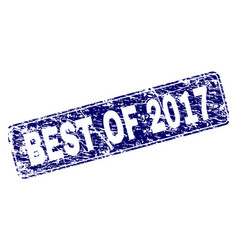 Scratched best of 2017 framed rounded rectangle vector
