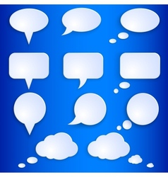 Set of Empty Speech Bubbles vector image