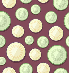 Set of Vegetables Patterns in a Flat Style vector image