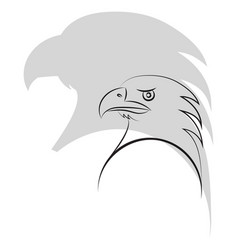 Simple outline of an eagle head minimalism vector