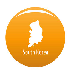 South korea map in black simple vector