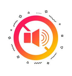 Speaker volume sign icon no sound symbol vector
