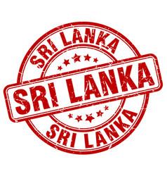 Sri lanka red grunge round vintage rubber stamp vector