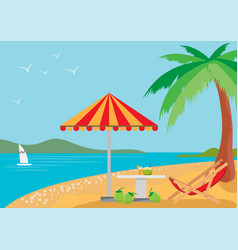 Summer holidays on the beach vector