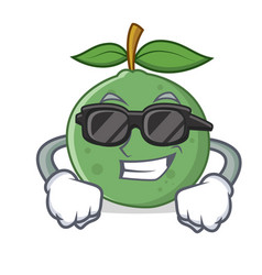 Super cool guava character cartoon style vector